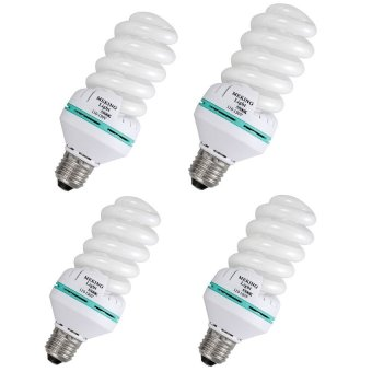 Meking 4 Pieces Studio 150W 5500K 220V Photo Daylight Lamp Bulb Energy Saving Bulb E27 CFL Lamps Price Philippines