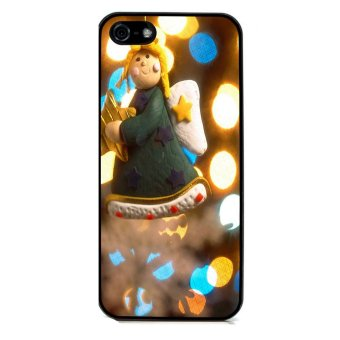 Merry Christmas Pattern Phone Case for iPhone 5C (Black)
