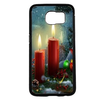 Merry Christmas Pattern Phone Case For Samsung Galaxy S6 (Black)