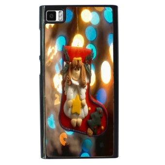 Merry Christmas Pattern Phone Case for Xiaomi Mi3 (Black)