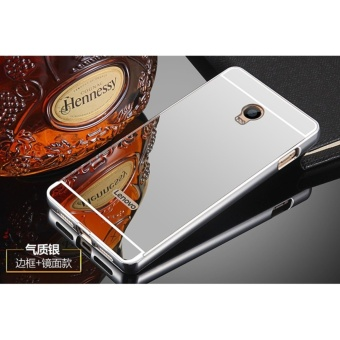 Metal Bumper and Mirror PC Back Cover Case For Lenovo Vibe P1 / C72 - intl