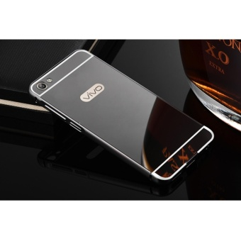 Metal Bumper and Mirror PC Back Cover Case For Vivo V5 Plus - intl