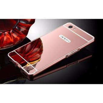 Metal bumper case for Oppo F3 (rose gold)