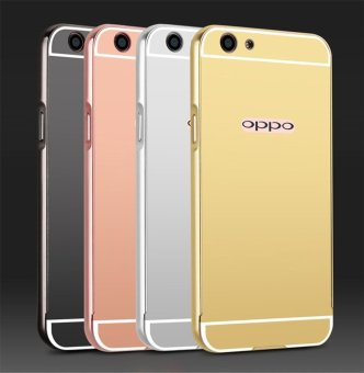 Metal Bumper Mirror Back Cover Case For Oppo F1s (Gold) - intl - 4