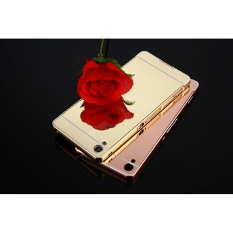 Metal Frame Mirror Back Case Cover For SONY Xperia XA (Rose Gold) -intl - 5