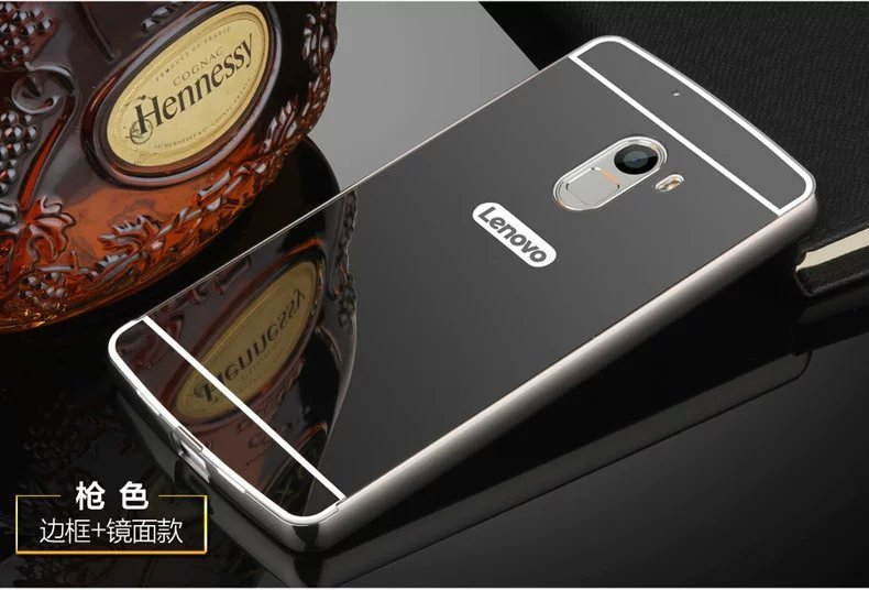 ... Metal Frame Mirror Back Cover Case For Lenovo Vibe K4 Note/Lenovo Vibe X3 Lite ...