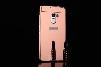 Metal Frame Mirror Back Cover Case For Lenovo Vibe K4 Note/LenovoVibe X3 Lite/Lenovo A7010 (Rose Gold) - intl