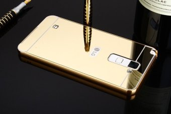 Metal Frame Mirror Back Cover Case For LG Stylus2 Plus (Gold) -intl