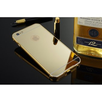 Metal mirror border Back Case Cover For Apple iPhone 6 Plus / 6sPlus (gold) - intl