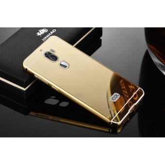 Metal mirror border Back Case Cover For Letv LeEco Cool 1 (gold) -intl