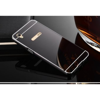 Metal mirror border Back Case Cover For Oppo A37 (black) - intl