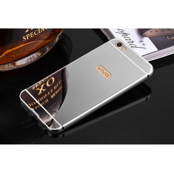 Metal mirror border Back Case Cover For Vivo v5 plus (silver) -intl