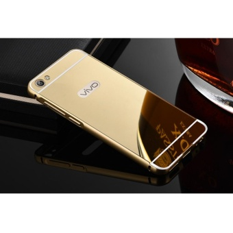 Metal mirror border Back Case Cover For Vivo Y55 / Y55A (gold) - intl