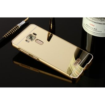 Metal mirror border Back Cover case For A sus Zenfone 3 LaserZC551KL (gold) - intl