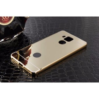 Metal mirror border Back Cover case For A sus Zenfone 3 Max ZC520TL 5.2 (gold) - intl