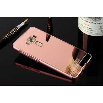 Metal mirror border Back Cover case For Asus Zenfone 3 5.2 (rose gold) - intl
