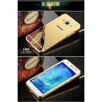 Metal mirror border Back Cover case For S amsung Galaxy J5 (2015)(gold) - intl