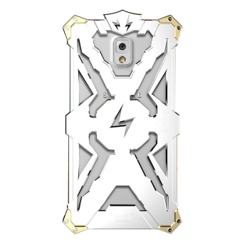 Metal Mobile Phone Back Case for Samsung Galaxy Note 4 (Silver)