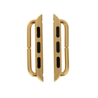 Metal Strap Connector Metal Buckle for Apple Watch 42mm Pack of 2(Gold)