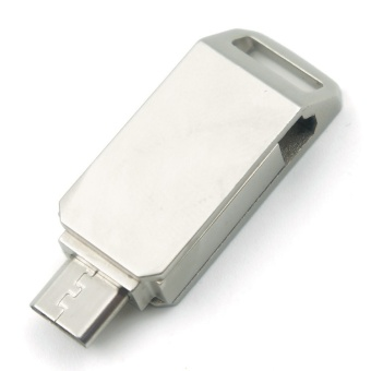 Metal Waterproof Phone OTG 64GB Rotate Mini OTG For Android/TabletPC Pen Drive USB Flash Drive - intl Price Philippines