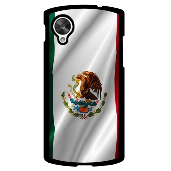 Mexican FLAG Pattern Phone Case for LG Nexus 5 (Multicolor)