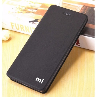 MI Flip Leather phone cover case For Xiaomi Redmi 4X(Black)  - intl