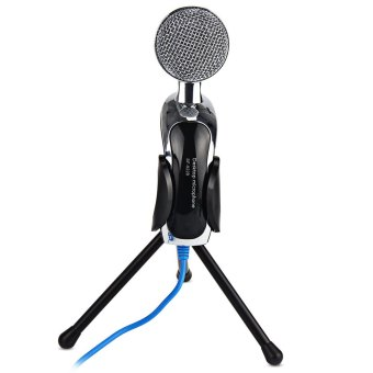 Mic Studio Audio Sound Recording usb microphone CondenserMicrophone with Microphone Stand for computer Laptop - Intl - 5