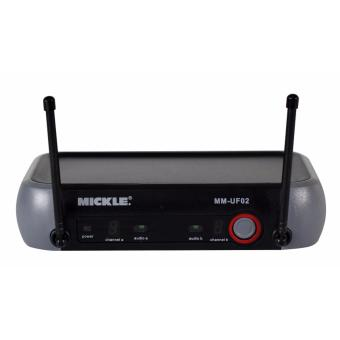 MICKLE MM-UF02 Professional UHF Wireless Michrophone (Black)