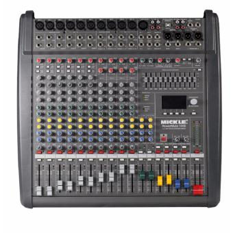 MICKLE Powermate-1000 Professional Power Mixer (Black)