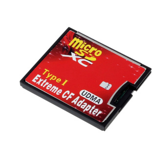 Micro SD TF SDHC To Type I 1 Compact Flash Card CF Reader AdapterUDMA Red