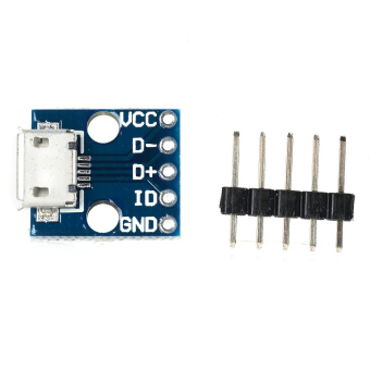 Micro USB 5V Power Adapter Socket Module (Blue) - picture 2