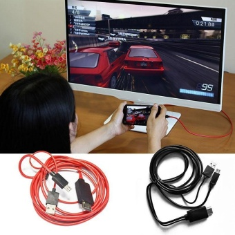 Micro USB MHL To HDMI AV HD TV Adapter Converter Cable Cord For Mobile Phone - intl