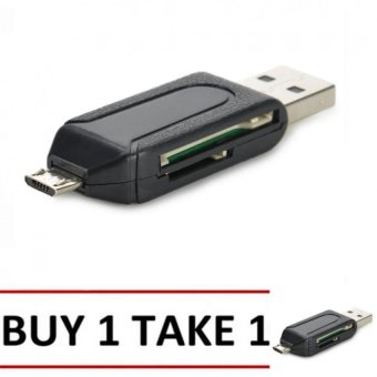 Micro USB OTG SD / TF Memory Card Reader (Black) BUY 1 TAKE 1