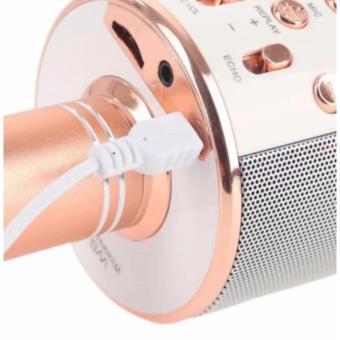 Microphone Wireless KTV Karaoke Bluetooth Handheld Mic HIFI Speaker(Rose Gold) WS858 - 3