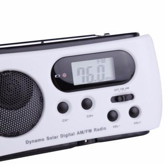 Miimall RD612 Mini Portable Hand Crank Dynamo FM/AM Radio (White) - intl - 3