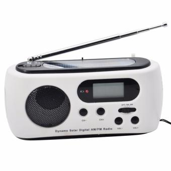 Miimall RD612 Mini Portable Hand Crank Dynamo FM/AM Radio (White) - intl