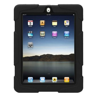 Military Shockproof Case with Stand for Apple iPad Air (Black)