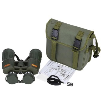Military Tactical Army Green Binoculars Telescope 10X50 122m/1000mOptical Lens with Travel Pouch