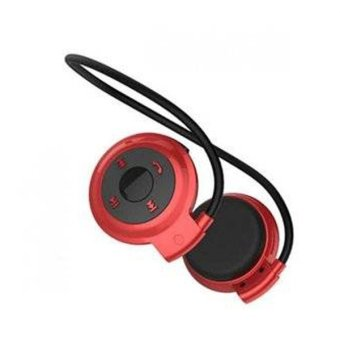 Mini 503 Foldable Bluetooth Stereo Headset (Red) - picture 2