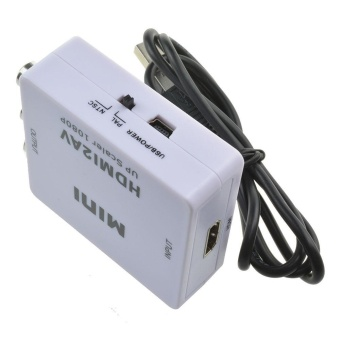 Mini Composite HDMI to RCA Audio Video AV CVBS Adapter Converter For HDTV - intl - 5