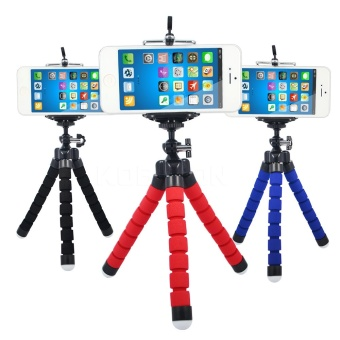 Mini Flexible Sponge Octopus Tripod for iPhone Samsung XiaomiHuawei Mobile Phone Smartphone Tripod for Gopro Camera DSLR Mount -intl Price in Philippines
