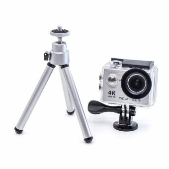 Mini Monopod Aluminum Silver Folding Tripod Stand Adjustable Camera Legs Mount For Go pro Hreo 5 4 3 SJCAM EKEN Xiaoyi Action Sport Camera Accessories