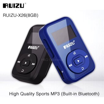 Mini Original RUIZU X26 Clip Bluetooth MP3 player 8GB SportBluetooth Mp3 Music Player Recorder FM Radio 1.1inch Support SDCard - intl