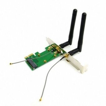Mini PCI-E to PCI-E Express Wireless Card with Dual AntennasNetwork Internet Computer WiFi