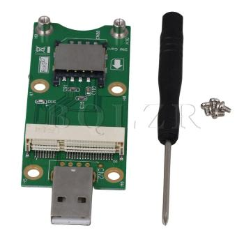 Mini PCI-E to USB Adapter With SIM card Slot for WWAN/LTE ModuleGreen - intl