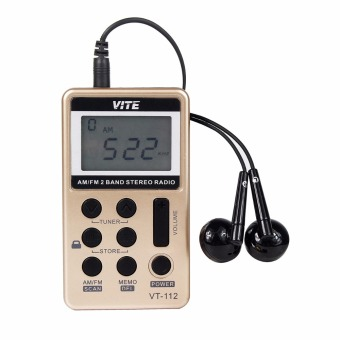Mini Pocket Radio FM / AM 2 Band Radio Receiver RechargeableBattery+ Earphone FM Radio F9202 - Intl