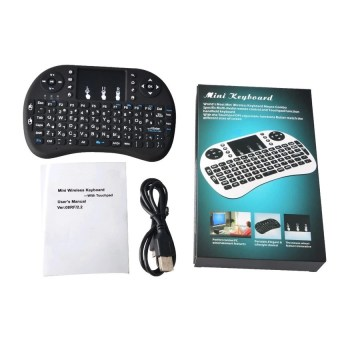 Mini USB Wireless Keyboard Touchpad Air Mouse Fly Mouse Remote Control for Android Windows TV Box PC Pad Cellphone White - 4