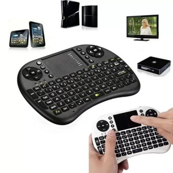 Mini USB Wireless Keyboard Touchpad Air Mouse Fly Mouse RemoteControl for Android Windows TV Box PC Pad Cellphone Black - 2
