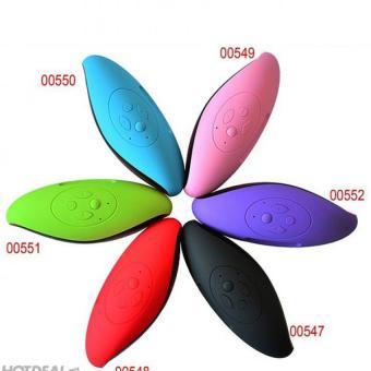 Mini X6 Sleek Oval Wireless Bluetooth Speaker (Black) - 2