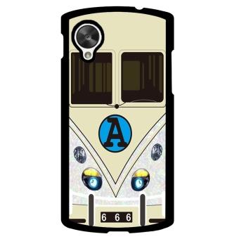 Minibus Teal Pattern Phone Case for LG Nexus 5 (White)